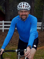 Dr. John Harsch on a bike ride